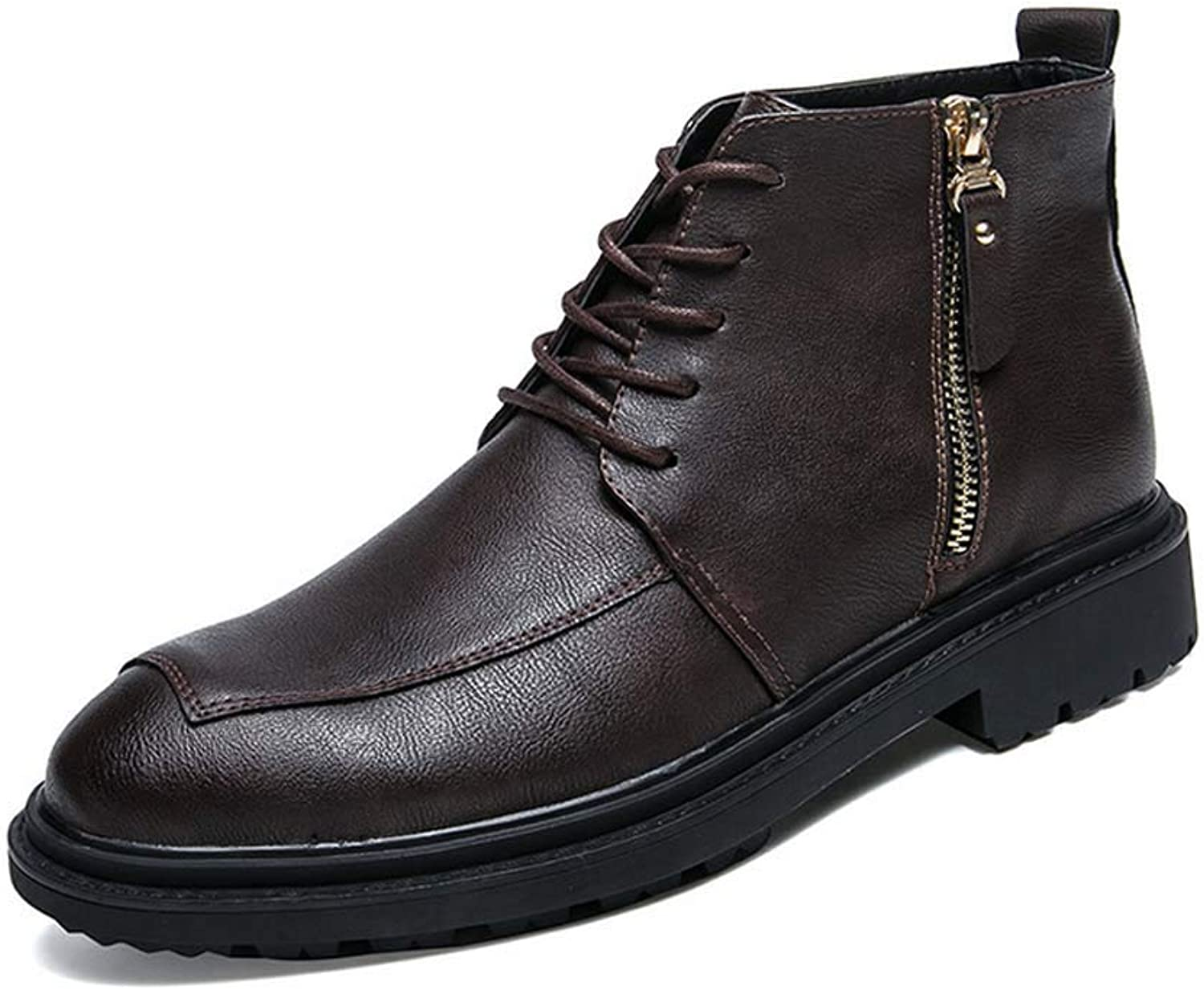 GLSHI Men Martin Boots Autumn New England Casual shoes High Top Breathable Tooling Boots