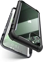 i-Blason Ares Series for iPhone 11 Pro 5.8 Inch (2019 release), Rugged Clear Bumper Case With Built-in Screen Protector (Black)