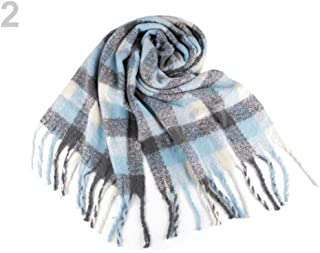 1pc Forget-me-not Blue Winter Shawl with Tassels 50x180cm, Shawls and Snoods, Shawls, Scarves &, Fashion Accessories