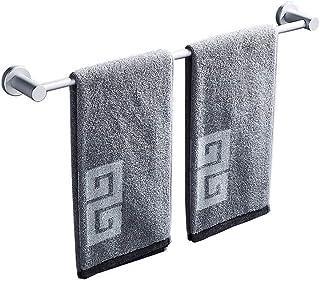 YF-SURINA Barre de serviette de salle de bain espace aluminium pas de rouille sans perçage étagère de rangement de douche ...