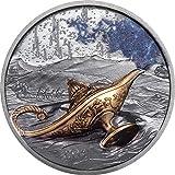Power Coin Magical Lamp 1001 Nights 1 Oz Moneda Plata 5$ Palau 2021