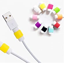 MobileGlaze 1 Pair Protector Saver Cover For iPhone, iPad, USB Charger Cable Cord(Random Color)