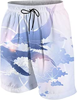 男の子 ハーフパンツ 海パン かわいい イルカ 星 パープル ブルー ピンク ショートパンツ サーフパンツ 五分丈 ボードショーツ 速乾 水陸両用 アウトドア 海水浴 普段着 街着 柔らかい 7-20歳が適当