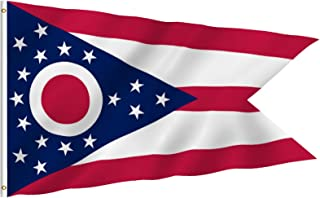 Anley Fly Breeze 3×5 Foot Ohio State Polyester Flag – Vivid Color and Fade..