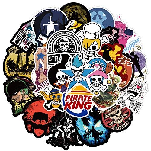 XINSHENG One Piece bauble 100PCS Mixed Anime ONE PIECE Stickers Skateboard Fridge Guitar Laptop Motorcycle Travel Luggage Waterproof Fun Stickers