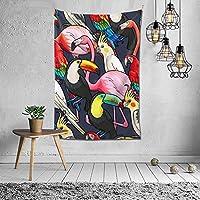 鳥柄 インコ タペストリー 壁掛け インテリア 多機能壁掛け ファブリック装飾用品 模様替え 部屋 窓カーテン 個性ギフト 新居祝い 152cmx102cm