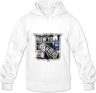Men's New York Rangers Team Logo Hooded Sweatshirt Size XXL White