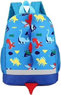 Mochila Infantil,WolinTek Dinosaurios Mochila para Niños Infantil Guarderia Mochila Escolar para Niños Niñas (Azul)