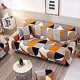 MKQB Funda de sofá elástica Antideslizante, decoración del hogar Moderna, combinación de Esquina de Sala de Estar, Funda de sofá Envuelta herméticamente NO.5 L (190-230cm)