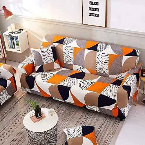 PPOS Sofa Protector Bedruckte Sofabezüge Für Wohnzimmer Elastische Stretch Schonbezug Eckige Sofabezüge A12 4 Sitze 235-300cm-1pc