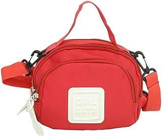 Elonglin Women's Casual Fashion Handbag Canvas Totes Small Bags Shoulder Bag Hobo Bags Cross-Body Bags Red