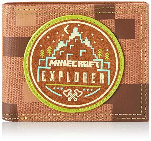 BIOWORLD MERCHANDISING Portefeuille Officiel Minecraft - Explorer, portfel dla dorosłych, uniseks, brązowy (Marron), 2 x 8 x 11 cm (szer. x wys. dł.)