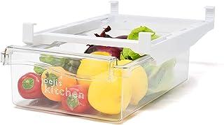 Rangement frigo rétractable - Réfrigérateur et congelateur tiroir intelligent - Boite de rangement frigo avec poignée