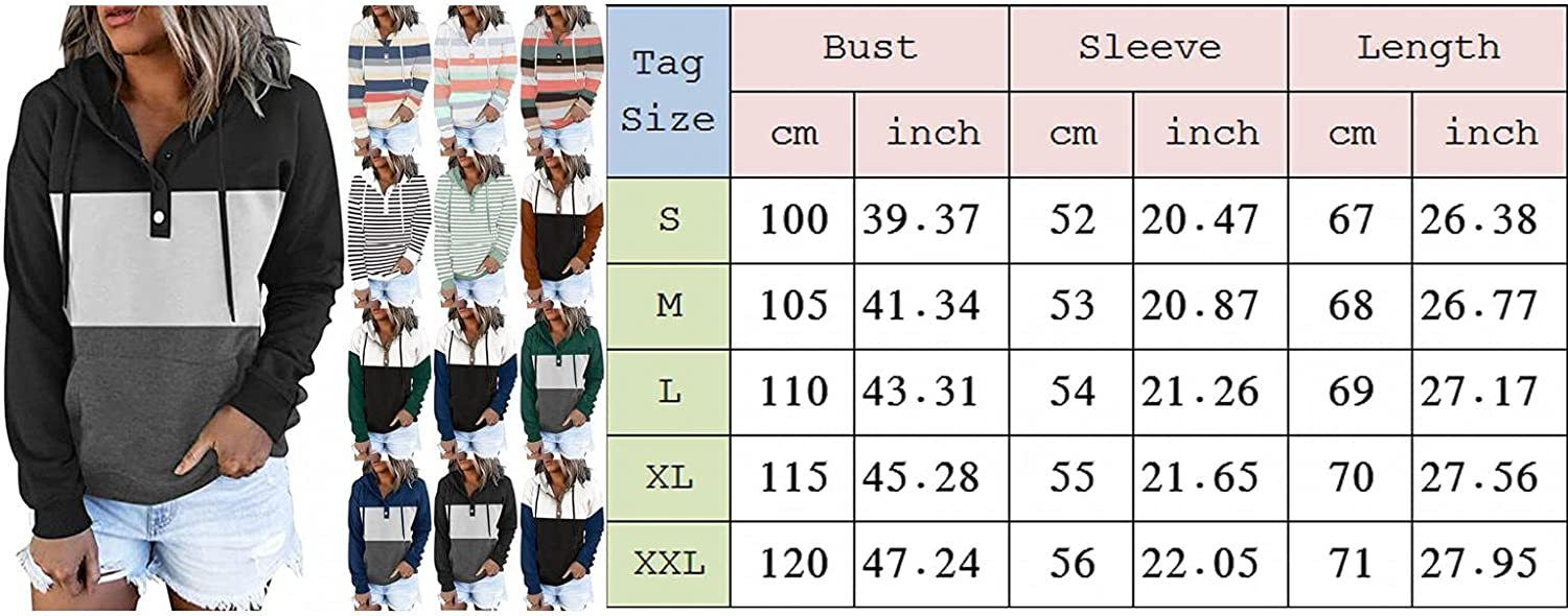 Hoodies for Women,Women's Fashion Hoodies & Sweatshirts Oversized Trendy with Pockets Patchwork Pullover