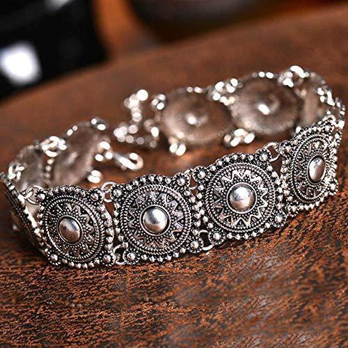 Houer Vintage Boho antiek zilver Tattoo verklaring ketting Retro kralen kraag Choker ketting vrouwen nek sieraden collares, zoals weergegeven