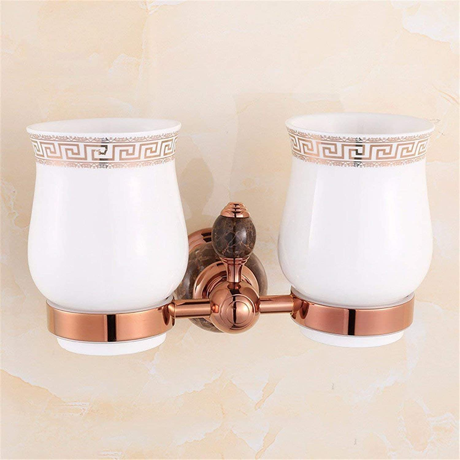 All Europeans in Gilded Copper Pink Black Jade Costume Accessories of Baths Dry-Towels,Triangle Shopping Cart Double Cup