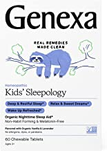 Genexa Kids' Sleepology – 60 Tablets | Certified Organic & Non-GMO, Melatonin-Free, Physician Formulated, Homeopathic | Sl...