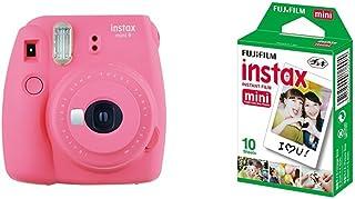 Fujifilm Instax Mini 9  Rosa + 1 paquetes de películas fotográficas instantáneas (10 hojas)