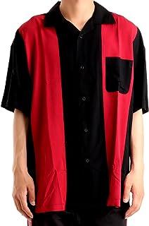 バレッタ ストライプカラー ビッグ 半袖 開襟 レーヨンシャツ オープンカラーシャツ メンズ