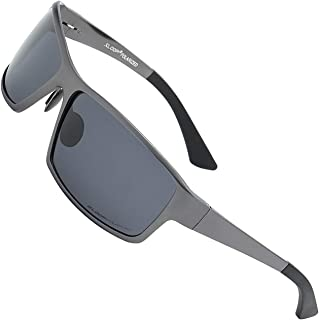 Xloop Polarized Aircraft Aluminum Metal Rectangular Sport Sunglasses For Men