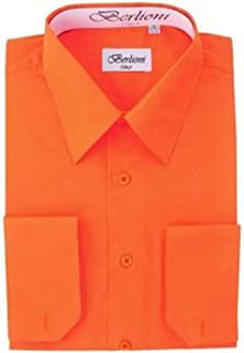 Berlioni Men's Dress Shirt - Convertible French Cuffs - Huge Color Selection