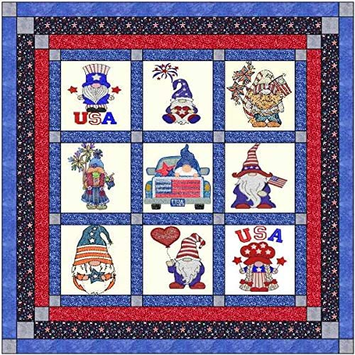 Quilt Kit Gnomey Fourth of July Pre to Popularity Cut Finished Ready Popular products Em Sew