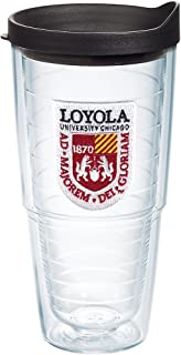 Tervis Loyola University Chicago Ramblers Double-Walled Insulated Tumbler, 24-Ounce, Clear