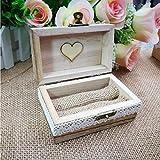 Unique Bague Box–Vintage personnalisé gravé décoratif en bois Boîte à Bague pour mariage Proposition Cadeau...