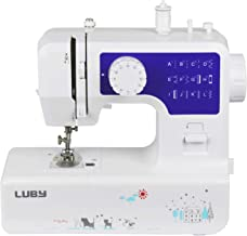Luby Portable Sewing Machine Double Thread Free Arm Best for Beginner and Advanced User, 12 Built-in Stitches, Blue