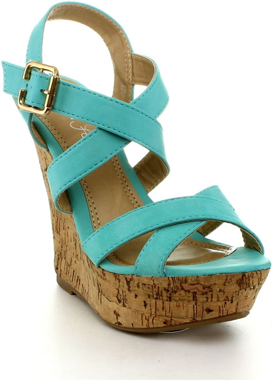 Fashion Focus Womens Ardo-02 Wedge Sandals