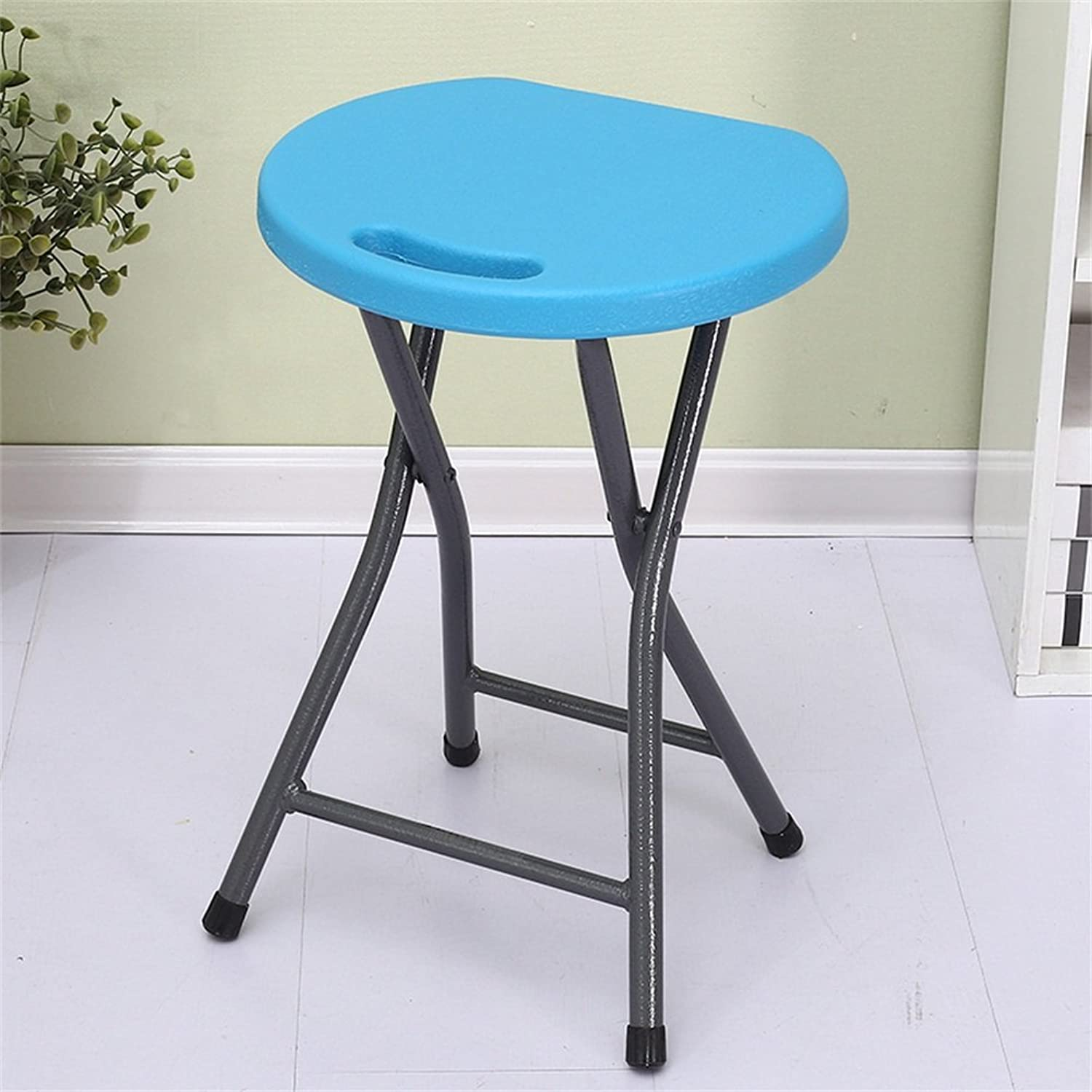 PVC Material Folding Stool 150 Kg Negative Weight Comfortable Portable Light bluee 45  33  33cm