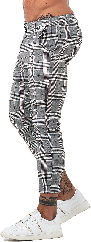 GINGTTO Mens Casual Pants with Pockets Chinos Pants Men Slim Fit