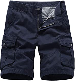 XINHEO Women's Summer Relaxed-Fit Loose Sport Multi-Pocket Cargo Shorts Pant