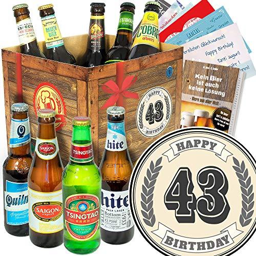 Geschenke zum 43. / Bier Box mit Biersorten der Welt