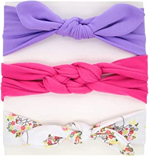 ZOONAI 3Pcs Baby Girls Toddler Elastic Headbands Infant Hair Band Headdress