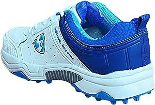 SG Club 3.0 Cricket Shoe Size 9 UK (White/Royal Blue/Aqua)