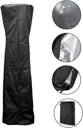iSunday Patio Heater Cover Stand Up Waterproof Dustproof for Outdoor Round Dome Heaters 221X85X48Cm
