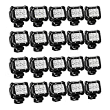"Nilight 20PCS 18W 4"" Flood Led Light Bars Driving Fog Light Off Road Lights Boat Lights Driving Lights Led Work Lights SUV Jeep Lamps, 2 Years Warranty"