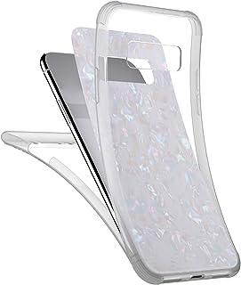 JAWSEU 360 graders fodral kompatibelt med Samsung Galaxy Note 8 heltäckande främre och bakre mjukt TPU-silikon transparent...
