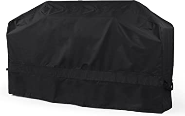 Covermates Island Grill Cover - Light Weight Material, Weather Resistant, Mesh Vent, Grill and Heating-Black