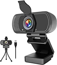 Sponsored Ad - 1080p Webcam with Microphone,Wide Angle Web Camera with Privacy Cover,USB External Camera for Computer Moni...
