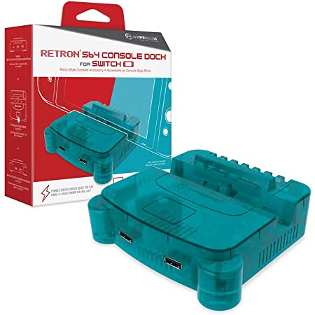Hyperkin RetroN S64 Console Dock for Nintendo Switch (Turquoise)