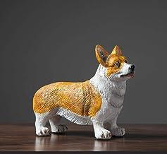 YAOHEHUA Beeldhouwwerken Voor Woonkamer Hond Decoratie Thuis Woonkamer Wijnkast Veranda Tv Kabinet Sieraden Accessoires Be...