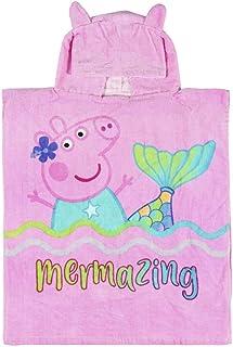 Cerdá Toalla Poncho Infantil con Capucha de Peppa Pig Playa, Rosa, 50 x 115 cm