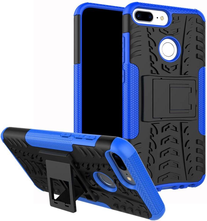 MAMA MOUTH Honor 9 Lite Funda, Heavy Duty Silicona híbrida con Soporte Cáscara de Cubierta Protectora de Doble Capa Funda Caso para Huawei Honor 9 Lite Smartphone (with 4 in 1 Packaged),Azul