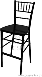 Commerical Seating Products RBB-900K-BK Chiavari Black Barstool Steel Core Chairs