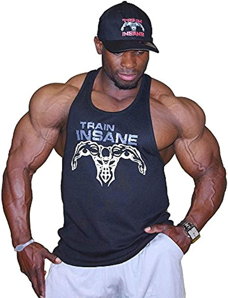 Crazee Wear Fitted wholesale Black Bodybuilder with Grey Tank Top NEW before selling Stringer