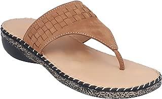 pelle albero Womens Beige Flat Slippers