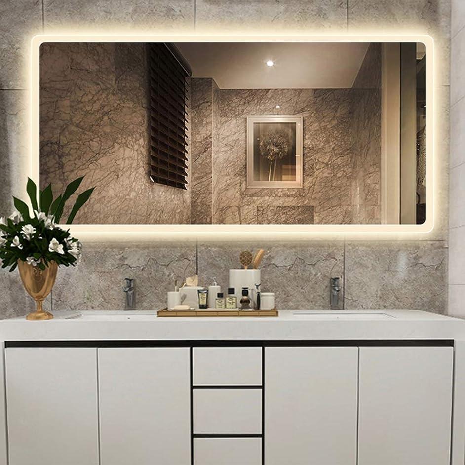 元に戻す矢慣習浴室用化粧鏡 Ledウォールマウントライト付きバスルームミラー、ウォールミラー長方形照明バニティミラー、センサースイッチ付き、バスルームの寝室の家具