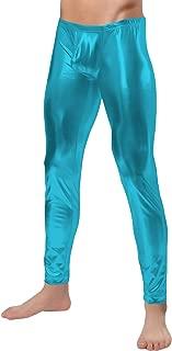 Sheface Men's Shiny Metallic Long Pants Tight
